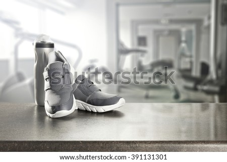 glasses deck and shoes of sport  - stock photo