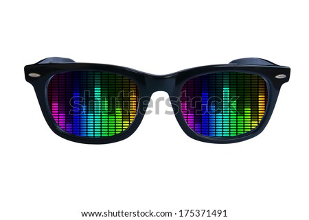 Glasses Equalize - stock photo