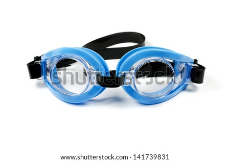 Glasses for swimming isolated on a white background
