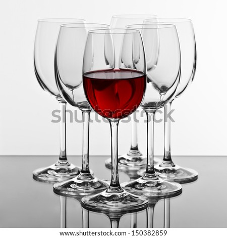 glasses for wine - stock photo