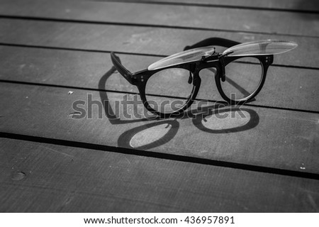 Glasses in black and white style - stock photo