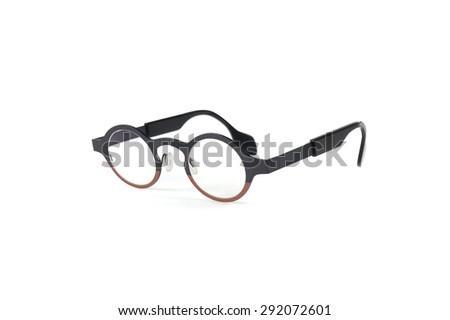 glasses intellectual - stock photo