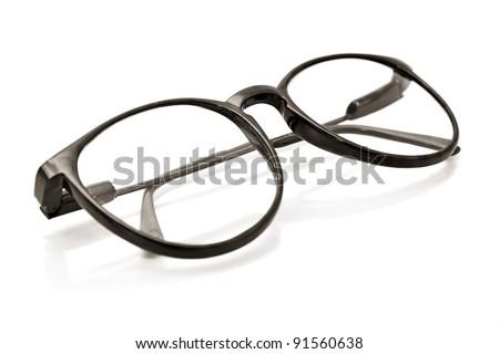 glasses isolated on white - stock photo