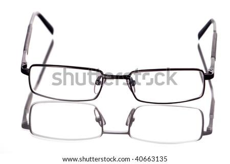 glasses isolated on white background - stock photo