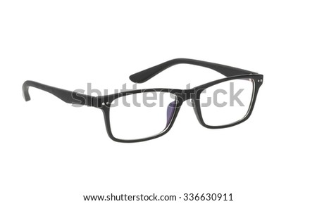Glasses isolated on white background. without shadow - stock photo