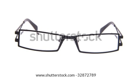 Glasses isolated on white backogrund - stock photo