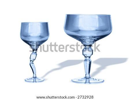 glasses isolated on white baclkground