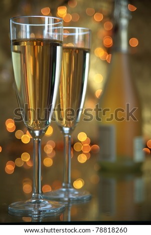 Glasses of champagne. - stock photo