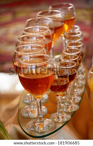 Glasses of cognac - stock photo