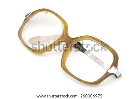 glasses on the white background - stock photo