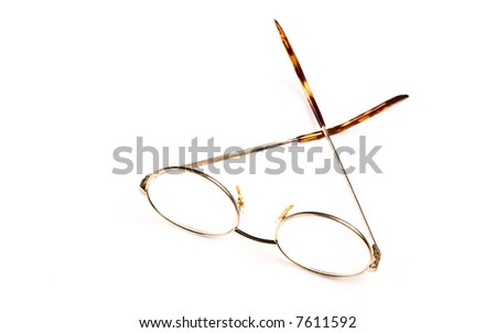 Glasses on the white background.