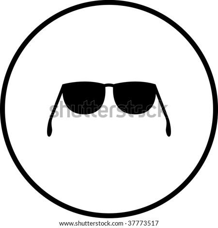 glasses or sunglasses symbol - stock photo