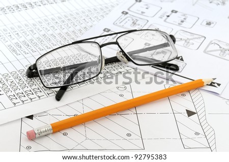Glasses,  pencil and paper workers