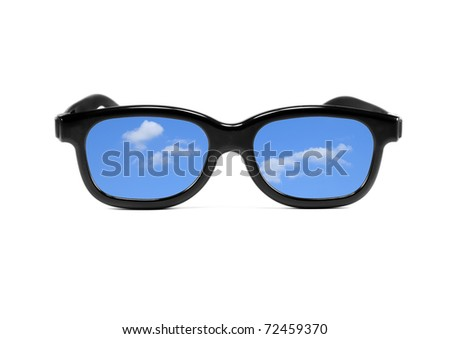 glasses representing the concept of break, vacation..........
