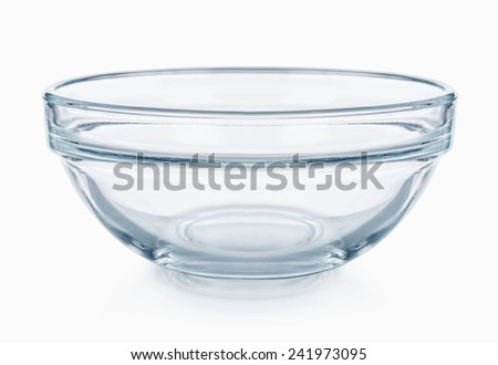 Glassware. Empty salad bowl on a white background - stock photo