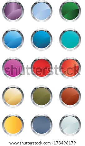 Glassy buttons - stock photo