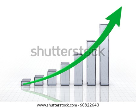 Glassy chart - stock photo