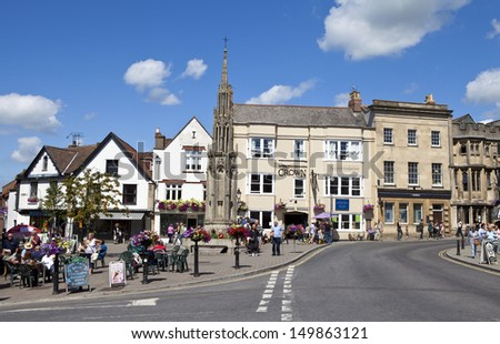 Glastonbury Town centre in Somerset, England. - stock photo