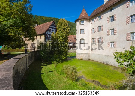 GLATT, GERMANY - AUGUST 30, 2009: The historic water castle in Glatt, Black Forest, Baden-Wurttemberg, Germany, Europe