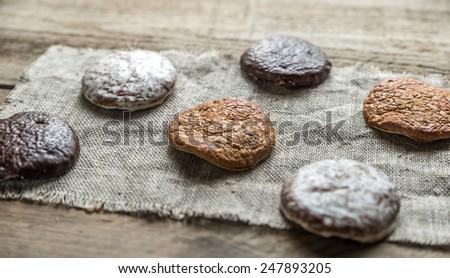 Glazed gingerbread cakes - stock photo
