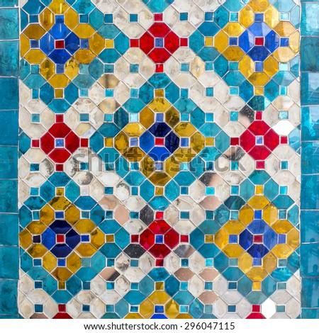 glazed tile - stock photo