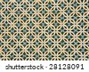 glazed tiles with blue, green, yellow and white simple pattern - stock photo