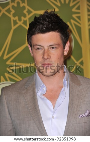 Glee star Cory Monteith at Fox TV's Winter 2012 All-Star Party at Castle Green in Pasadena. January 8, 2012  Pasadena, CA Picture: Paul Smith / Featureflash - stock photo
