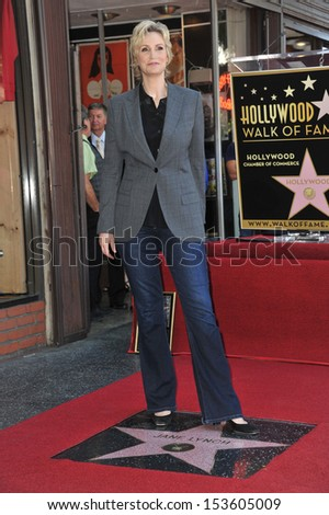 Glee star Jane Lynch on Hollywood Blvd where she was honored with the 2,505th star on the Hollywood Walk of Fame. September 4, 2013  Los Angeles, CA - stock photo