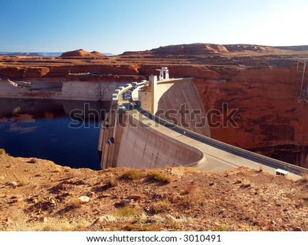 Glen Canyon Dam and Lake Powell in Arizona