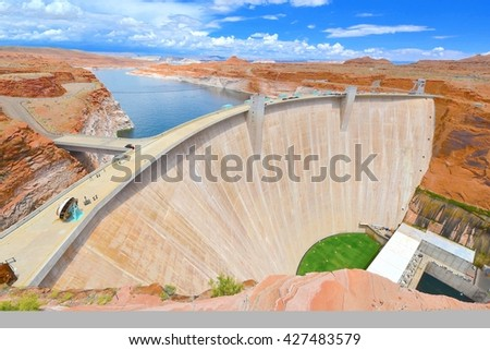 Glen Canyon Dam in Page, Arizona USA - stock photo