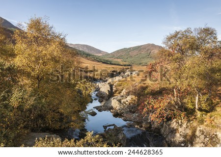 Glen Sannox on the Isle of Arran in Scotland. - stock photo