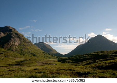 Glencoe in Scottish Highlands - stock photo