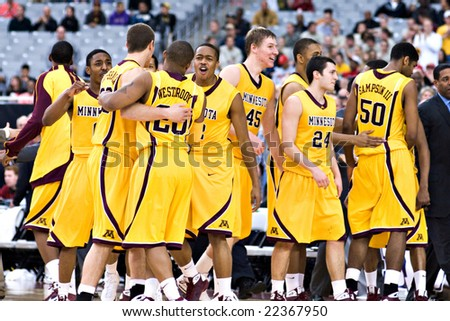 Minnesota Basketball Team Basketball Team Celebrates