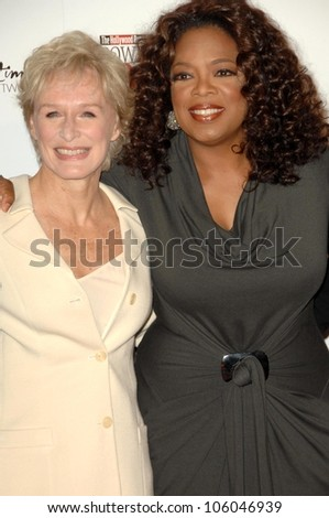 Glenn Close and Oprah Winfrey   at The Hollywood Reporter's Annual Women In Entertainment Breakfast. Beverly Hills Hotel, Beverly Hills, CA. 12-05-08