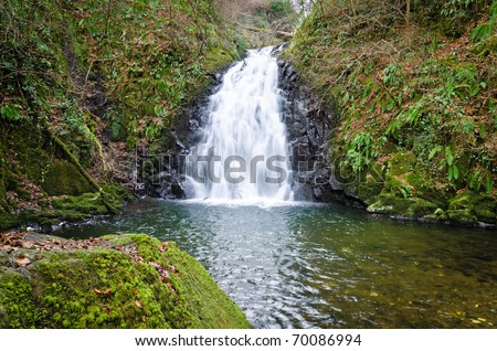 Glenoe Waterfall, Antrim, Ireland.  Part of the world reknowned Glens Of Antrim