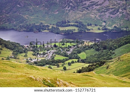 glenridding with ullswater in lake district, england, united kingdom - stock photo