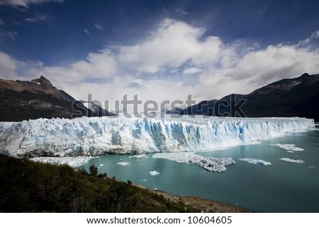 gletscher ice at patagiona - stock photo