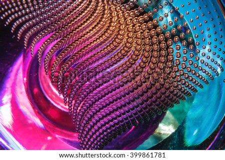 glitter air bubbles in the glass,  background abstract texture - stock photo