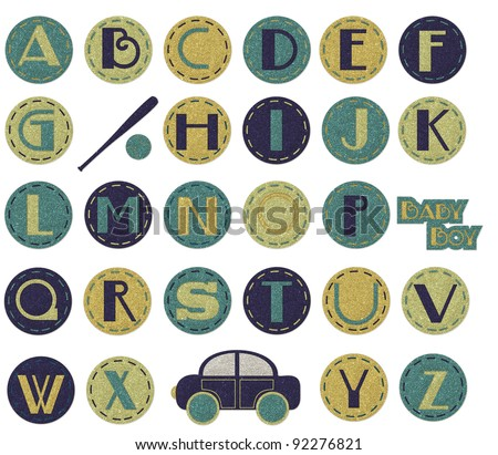 Glitter Alphabet - Boy - stock photo
