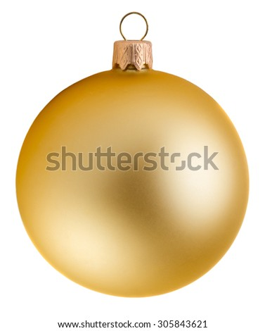 Glitter christmas ball isolated on white background - stock photo