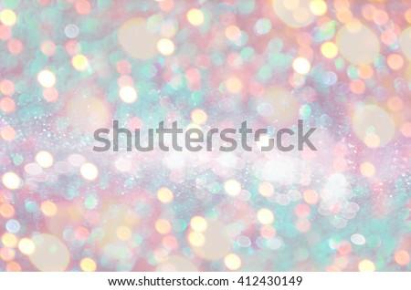 Glitter light blurred background - stock photo