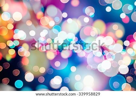Glitter vintage lights background - stock photo