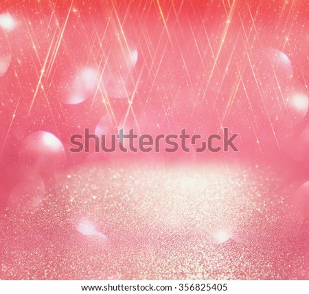 glitter vintage lights background. light silver, and pink. defocused.  - stock photo