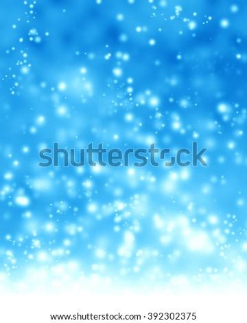 Glittering blue background - stock photo