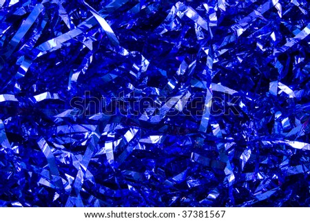 Glittering blue party strings for background use