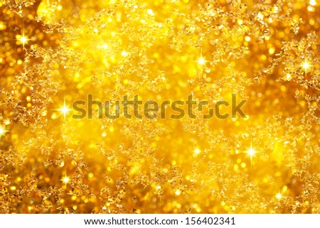 Glittering Golden Background - stock photo