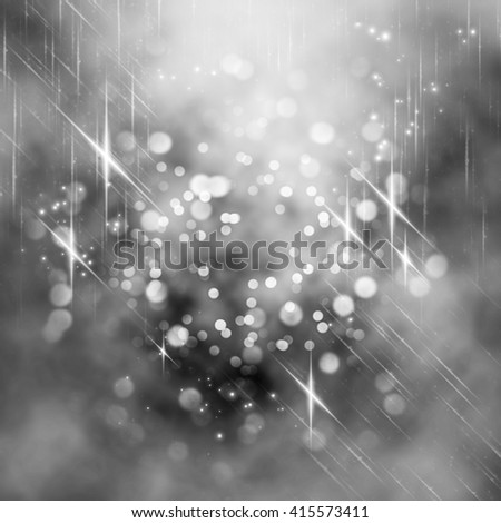Glittering lights seen through an abstract drawing on foggy window. Colorful texture for Christmas, New Year and other holidays. Blurry pattern for text, cover and presentation. - stock photo