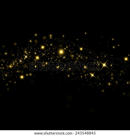 Glittering stars on bokeh background - stock photo
