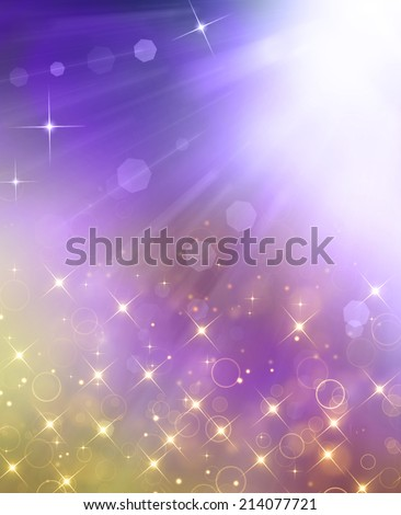 Glittery beautiful bokeh background with stars