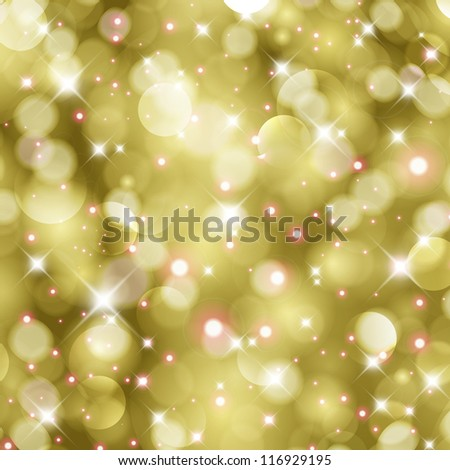 Glittery gold Christmas background. For vector version, see my portfolio. - stock photo